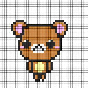 Cute Bear Perler Bead Pattern | Bead Sprites | Animals ...
