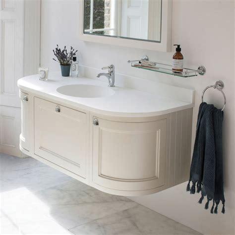 narrow bathroom vanities burlington 134 wall mounted vanity unit with worktop