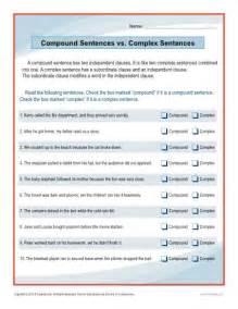 Simple Compound Complex Sentences Worksheets