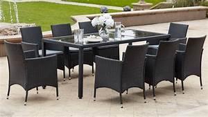 Table De Jardin En Resine Tressée : salon de jardin table r sine tress e 8 fauteuils ~ Teatrodelosmanantiales.com Idées de Décoration