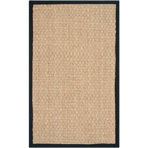 area rugs black safavieh fiber beige black 2 ft x 3 ft area rug 1335