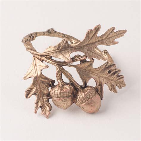 acorn  oak napkin rings michael michaud table art