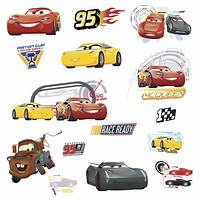 inspiring pixar cars wall decals Disney CARS 3 MOVIE WALL DECALS Lightning McQueen Mater Cruz Stickers Room Decor | eBay