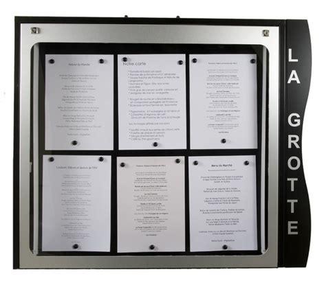 porte menu lumineux exterieur porte menu cevennes lumineux mural jupmce001