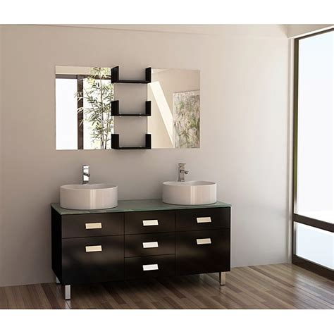 A few of the bathroom cabinets quantify even more than 32 inches height, 21 inches deep and 30 inches broad. Design Element Wellington 55-inch Double Sink Bathroom ...