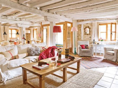 lovevly rustic cottage interior featuring a surprising color palette