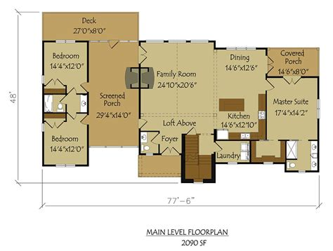 Floors Plans : Large Breathtaking Dog Trot Style