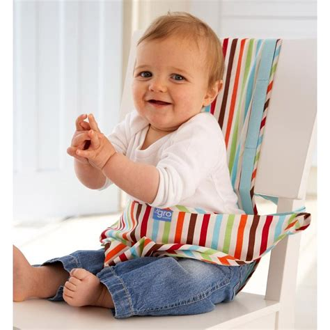 portable travel high chair booster seat for baby stripe