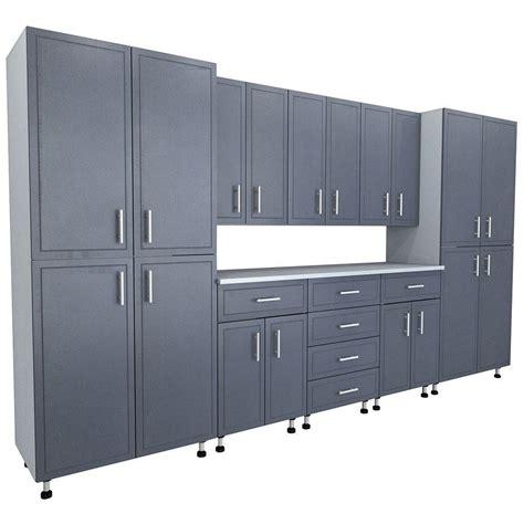 closetmaid storage cabinets home depot closetmaid progarage premium storage organizers in gray 9