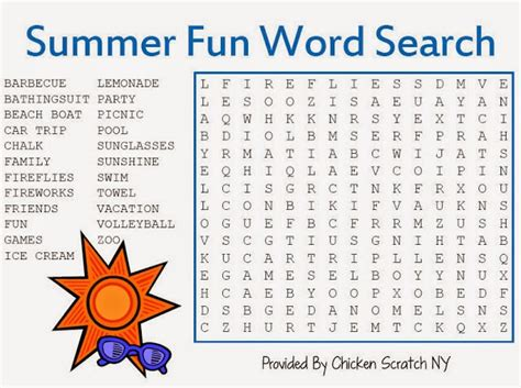 top 10 free and printable summer word searches that you