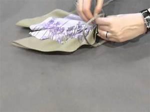 Serviette De Noel En Papier : pliage de serviette isambourg 1 ailes d 39 ange youtube ~ Melissatoandfro.com Idées de Décoration