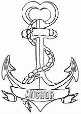 Coloring Anchor Printable Template sketch template