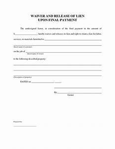 best photos of contractor lien release form free lien With construction lien letter
