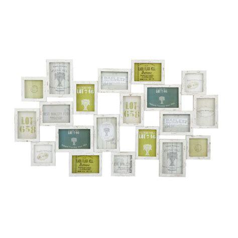 cadre photo blanc multivues 52 x 89 cm memories maisons du monde