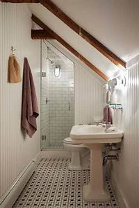 111 best what to do with a half story images on pinterest for Small attic bathroom sloped ceiling