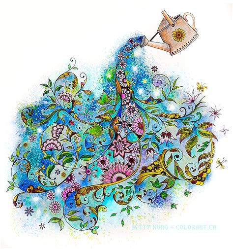 coloring  betty hung colorartca secret garden