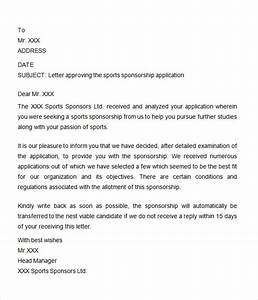 8 free sample sponsorship letters to download sample for Letter requesting sponsorship for sporting event