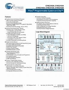 Cy8c21434 Manuals