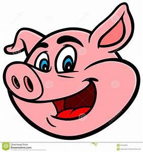 Cartoon Pig Stock Vector - Image: 53745634
