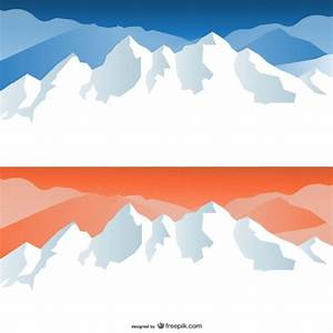 Snow capped mountains Vector | Free Download