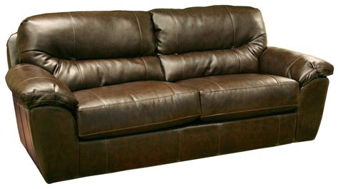 casual and comfortable faux leather sofa by jackson
