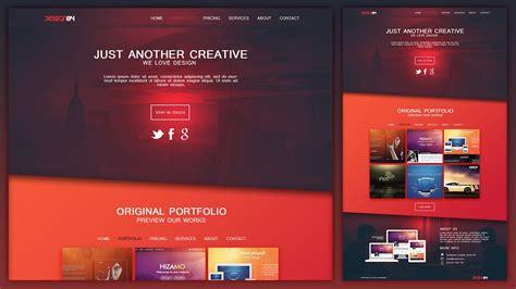 design  creative portfolio web design layout  photoshop