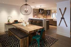 L39amenagement d39une salle a manger style industriel en 48 for Table salle À manger style industriel pour petite cuisine Équipée