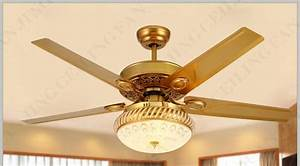 Modern 48 Inch Paint Gold Crystal Ceiling Fans With Lights
