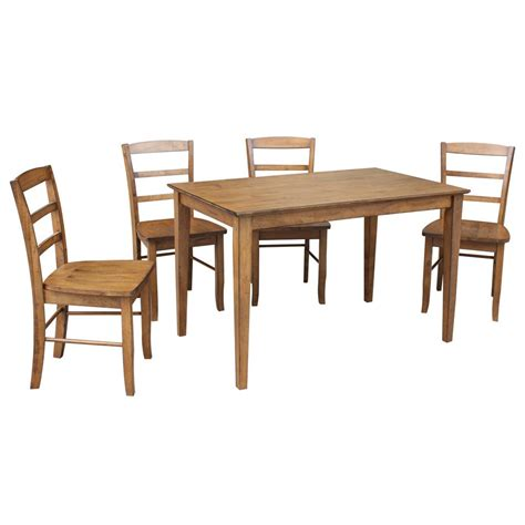 home depot dining room ls international concepts dining essentials 5 piece