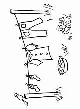 Coloring Template Clothesline Clothes Line Templates Washing Ropa Tendida Sewing Clothespin Visit Lines Embroidery sketch template