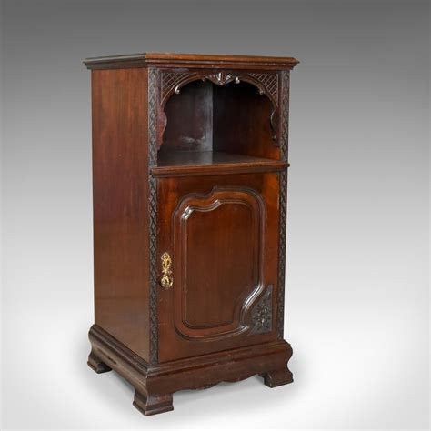 Bedside Cupboard by Antique Bedside Cabinet Carved Mahogany Nightstand