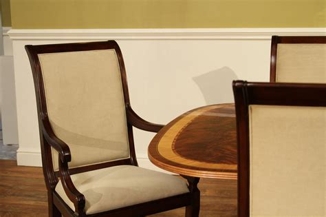 Transitional Upholstered Mahogany Dining Room Chairs