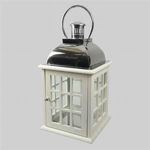 Grande Lanterne Deco : grande lanterne lisa en bois blanc d coration lumineuse eminza ~ Teatrodelosmanantiales.com Idées de Décoration