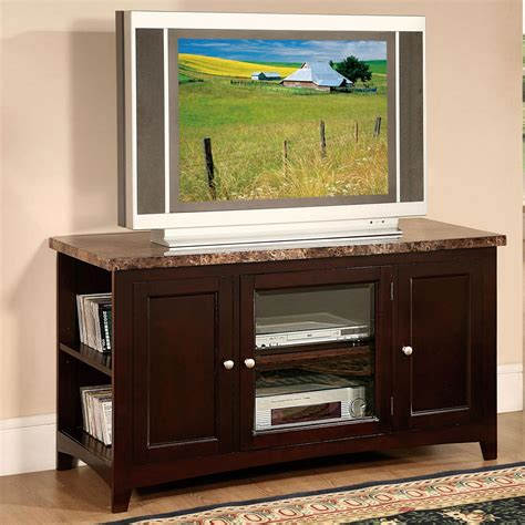 marble top tv stand acme furniture finely 91002 tv stand with faux marble top 7381