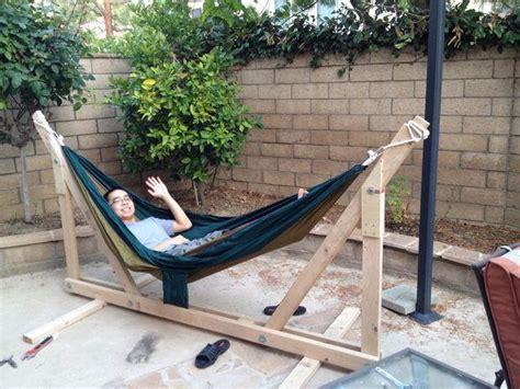 wood hammock stand diy wooden hammock stand diyideacenter
