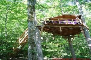 Cabane Dans Les Arbres Construction : le bois aux r ves cabane perch e 8m50 nescus ~ Mglfilm.com Idées de Décoration