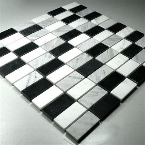 marmor mosaik fliesen schwarz weiss mix tg15023m