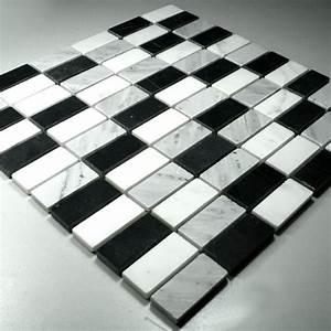 Fliesen Schwarz Weiß : marmor mosaik fliesen schwarz weiss mix tg15023m ~ A.2002-acura-tl-radio.info Haus und Dekorationen