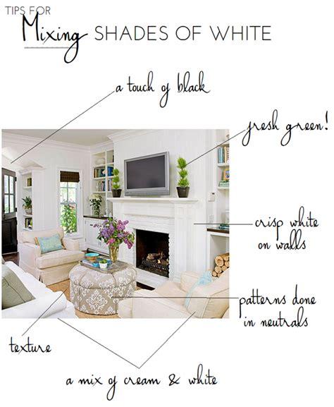 mix  shades  white emily  clark
