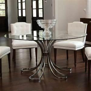 Aujourd hui on va vous presenter le plateau de table en for Table ronde salle a manger en verre pour deco cuisine