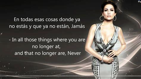 What does lo dejo mean in spanish? Jennifer López - Por Qué Te Marchas - English/ Spanish ...
