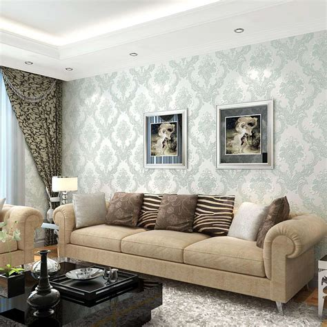 Tapeten Design Ideen Wohnzimmer by Contemporary Wallpaper Living Room Room Design Ideas Best