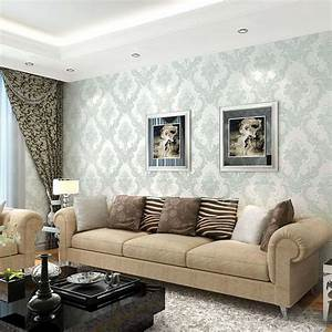 Elegant wallpaper for living room