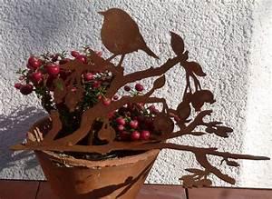 Deko Für Vasen : v gel auf ast deko f r schalen vasen rusty passion ~ Indierocktalk.com Haus und Dekorationen