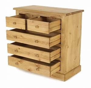 Commode En Pin : commode en pin massif 5 tiroirs arizona grenier alpin ~ Teatrodelosmanantiales.com Idées de Décoration