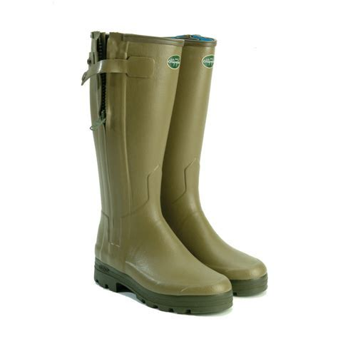 Chasseurnord Zipped and Neoprene Lined Wellington Boots