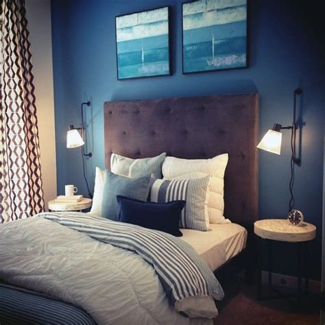 top   navy blue bedroom design ideas calming wall
