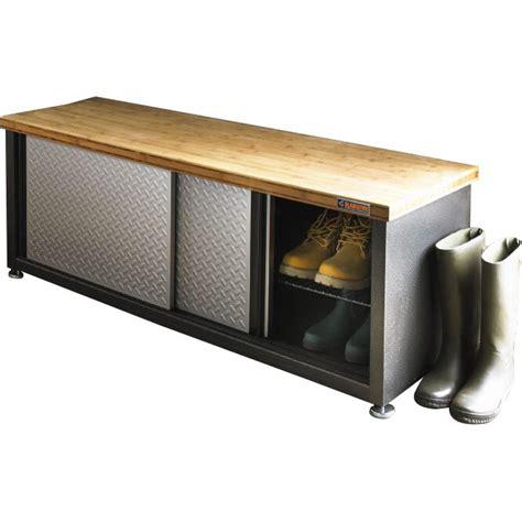 gladiator storage bamboo top workbench reviews wayfair