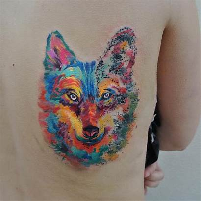 Tattoo Watercolor Wolf Designs Tattoos Meaning
