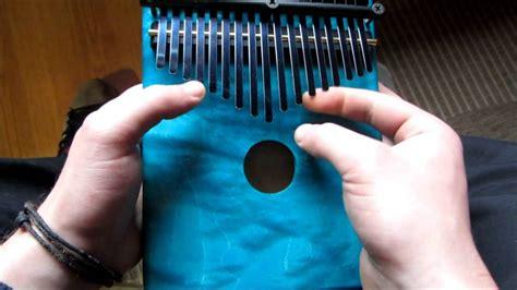 kalimba thumb piano custom finish youtube